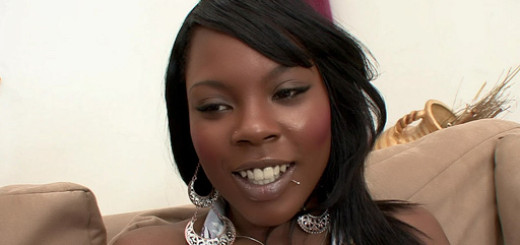 Ebony Coffee Brown Seducing Her Stepdad